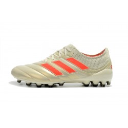 Chaussures de foot Crampons Adidas Copa 19.1 AG Champagne