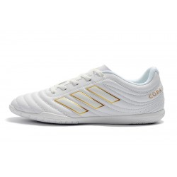 Chaussures de foot Adidas Copa 19.4 IC Blanc d'or