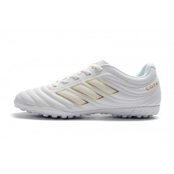 Chaussures de foot Adidas Copa 19.4 TF Blanc d'or