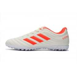 Chaussures de foot Adidas Copa 19.4 TF Blanc Orange
