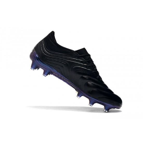 Chaussures de foot Crampons Adidas Copa 20.1 FG Knitting Noir Bleu