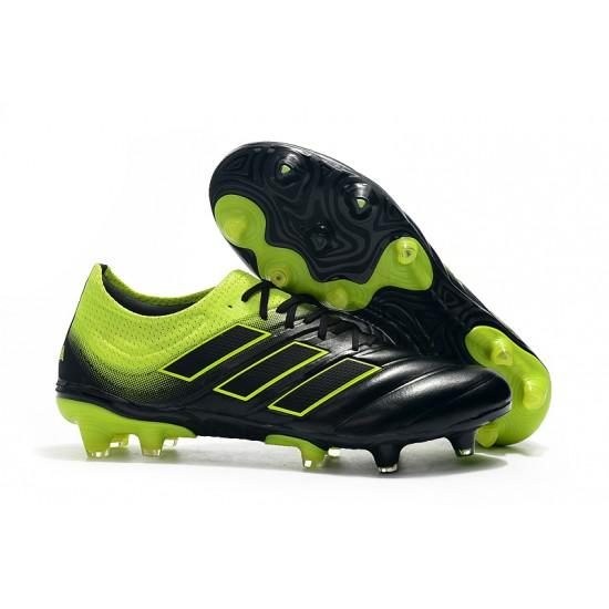 Chaussures de foot Crampons Adidas Copa 20.1 FG Knitting Noir Vert