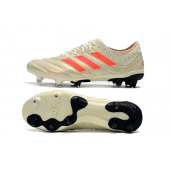 Chaussures de foot Crampons Adidas Copa 20.1 FG Knitting Champagne Orange