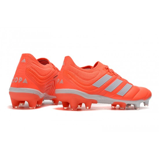 Chaussures de foot Crampons Adidas Copa 20.1 FG Knitting Orange Argent