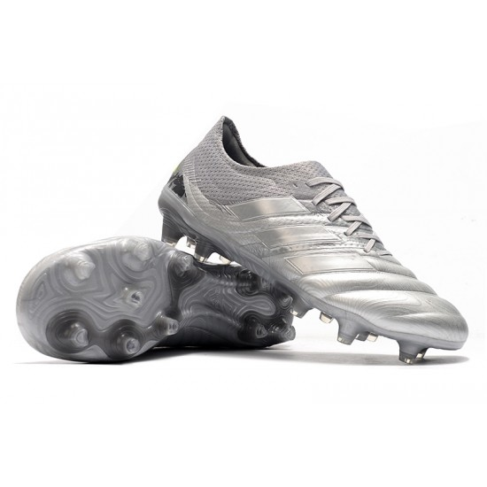 Chaussures de foot Crampons Adidas Copa 20.1 FG Knitting Argent