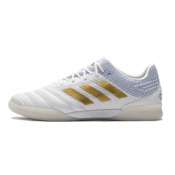 Chaussures de foot Adidas Copa 20.1 IN Knitting MD Blanc d'or