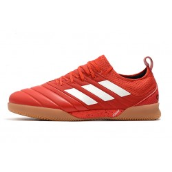 Chaussures de foot Adidas Copa 20.1 IN Knitting Rouge Blanc