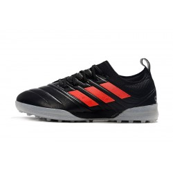 Chaussures de foot Adidas Copa 20.1 TF Knitting MD Noir Rouge Gris