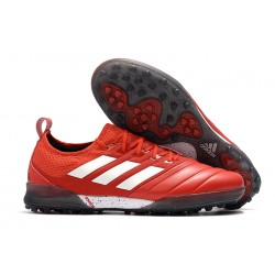 Chaussures de foot Adidas Copa 20.1 TF Knitting MD Rouge Blanc