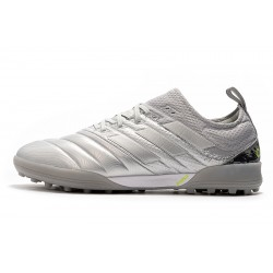Chaussures de foot Adidas Copa 20.1 TF Knitting MD Argent