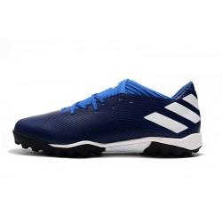 Chaussures de foot Adidas NEMEZIZ MESSI 19.3 TF Bleu royal Blanc