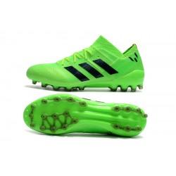 Chaussures de foot Crampons Adidas Nemeziz 18 AG Vert Noir
