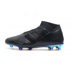 Chaussures de foot Crampons Adidas sans lacet Nemeziz 18 FG Noir