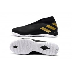 Chaussures de foot Adidas Nemeziz 19.3 IN MD Noir d'or