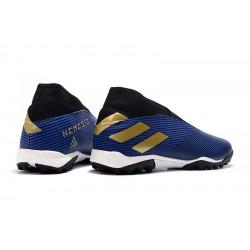 Chaussures de foot Adidas Nemeziz 19.3 TF MD Bleu d'or