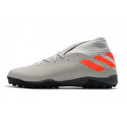 Chaussures de foot Adidas Nemeziz 19.3 TF MD Gris Orange