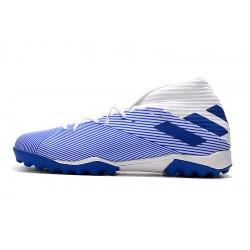 Chaussures de foot Adidas Nemeziz 19.3 TF MD Blanc Bleu