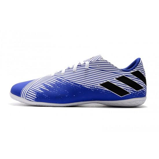 Chaussures de foot Adidas Nemeziz 19.4 IN Blanc Bleu Noir