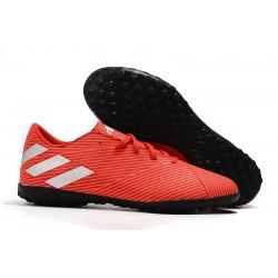 Chaussures de foot Adidas Nemeziz 19.4 TF Rouge Argent