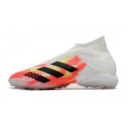 Chaussures de football Adidas Preator Mutator 20+ TF blanc Orange Noir