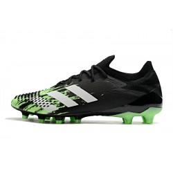 Chaussures de football Adidas Predator Mutator 20.1 Low AG Noir blanc vert