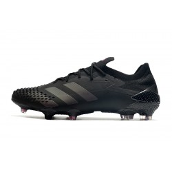 Chaussures de football Adidas Predator Mutator 20.1 Low FG - All Noir