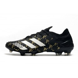 Chaussures de football Adidas Predator Mutator 20.1 Low FG - Noir Gold blanc