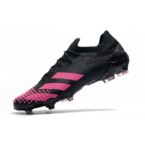 Chaussures de football Adidas Predator Mutator 20.1 Low FG - Noir Rose