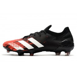 Chaussures de football Adidas Predator Mutator 20.1 Low FG - Noir rouge blanc