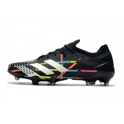 Chaussures de football Adidas Predator Mutator 20.1 Low FG - Noir blanc Bleu Rose