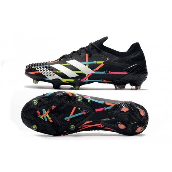 Chaussures de football Adidas Predator Mutator 20.1 Low FG - Noir blanc Bleu Rose
