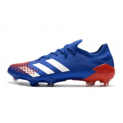 Chaussures de football Adidas Predator Mutator 20.1 Low FG - Bleu blanc rouge