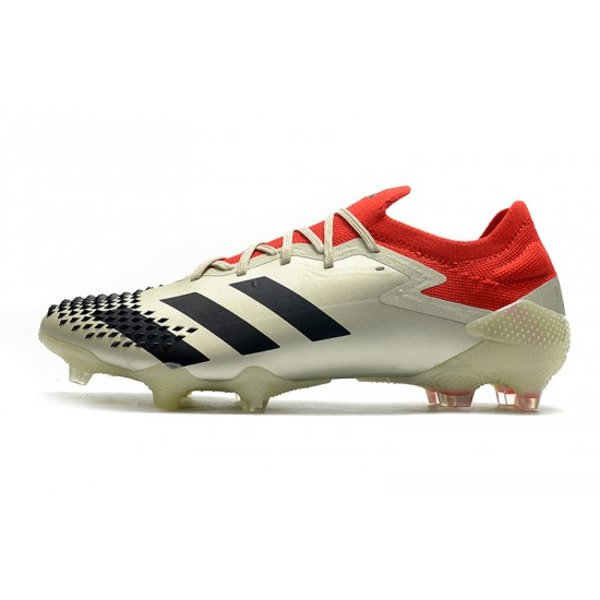Chaussures de football Adidas Predator Mutator 20.1 Low FG - Champagne Noir rouge