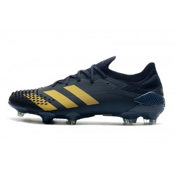 Chaussures de football Adidas Predator Mutator 20.1 Low FG - Navy Bleu Gold