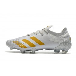 Chaussures de football Adidas Predator Mutator 20.1 Low FG - blanc Gold
