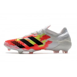 Chaussures de football Adidas Predator Mutator 20.1 Low FG - blanc Orange Noir