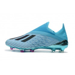 Chaussures de football Adidas X 19+ FG Hard Wirouge Bright Cyan Core Noir Shock Rose