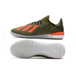 Chaussures de foot Adidas X 19.1 IC Vert Orange
