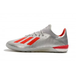 Chaussures de foot Adidas X 19.1 IC Argent Rouge