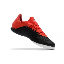 Chaussures de foot Adidas X Tango 18.3 IC Noir Rouge Blanc