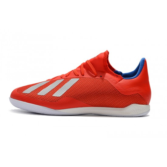 Chaussures de foot Adidas X Tango 18.3 IC Rouge Argent