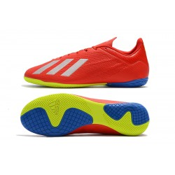 Chaussures de foot Adidas X Tango 18.4 IC Rouge Argent