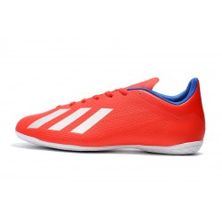 Chaussures de foot Adidas X Tango 18.4 IC Rouge Blanc