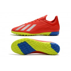 Chaussures de foot Adidas X Tango 18.4 TF Rouge Argent