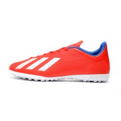 Chaussures de foot Adidas X Tango 18.4 TF Rouge Blanc