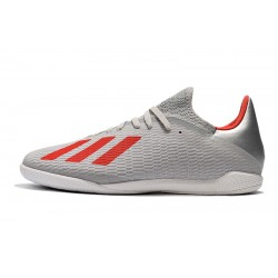 Chaussures de foot Adidas X Tango 19.3 IC Argent Rouge