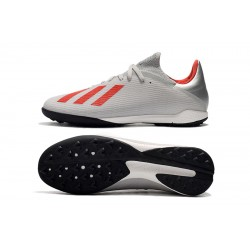 Chaussures de foot Adidas X Tango 19.3 TF Argent Rouge Blanc