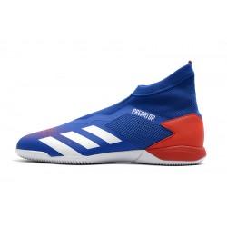 Chaussures de foot Adidas sans lacet Predator 20.3 IN Bleu Blanc Rouge