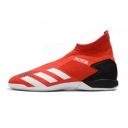 Chaussures de foot Adidas sans lacet Predator 20.3 IN Rouge Noir Blanc