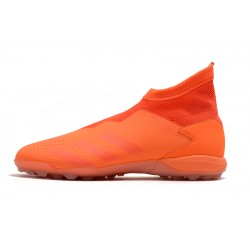 Chaussures de foot Adidas sans lacet Predator 20.3 TF Orange